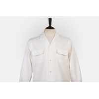 Flap Pocket Pearl - Straight Collar
