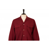 Flap Pocket Red - Straight Collar